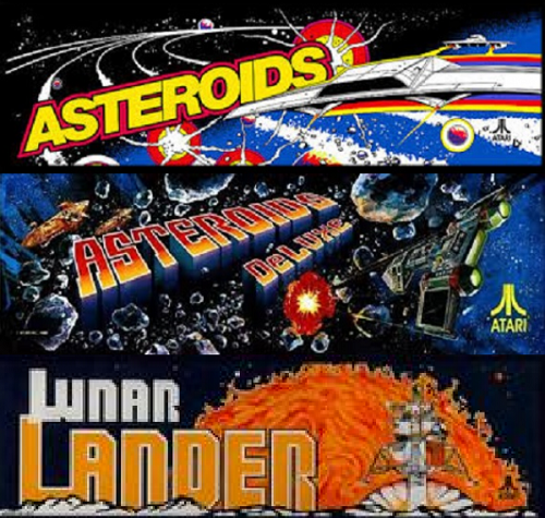 Asteroids multigame free play and high score save kit