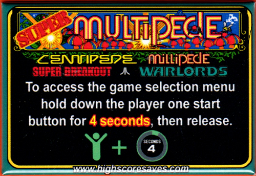 Super Multipede Multigame Instruction Magnet