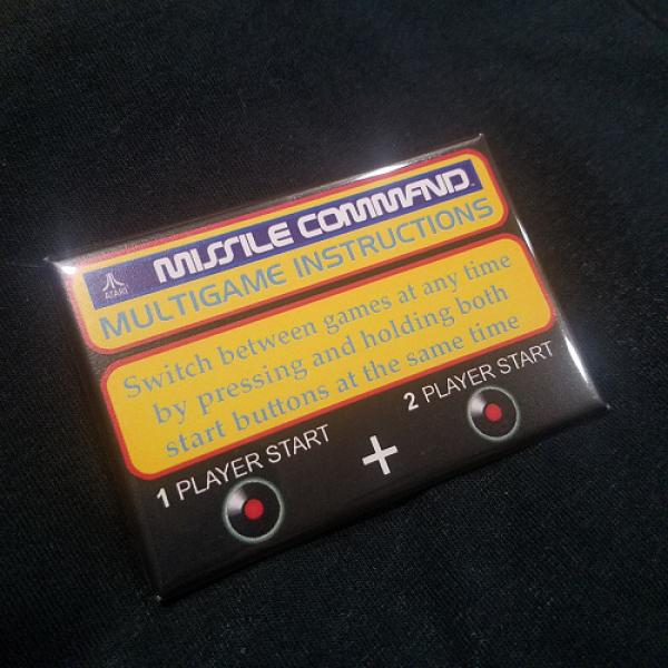 Missile Command Multigame Instruction Magnet