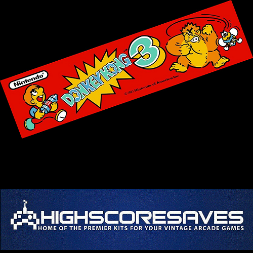donkey kong 3 free play and high score save kit