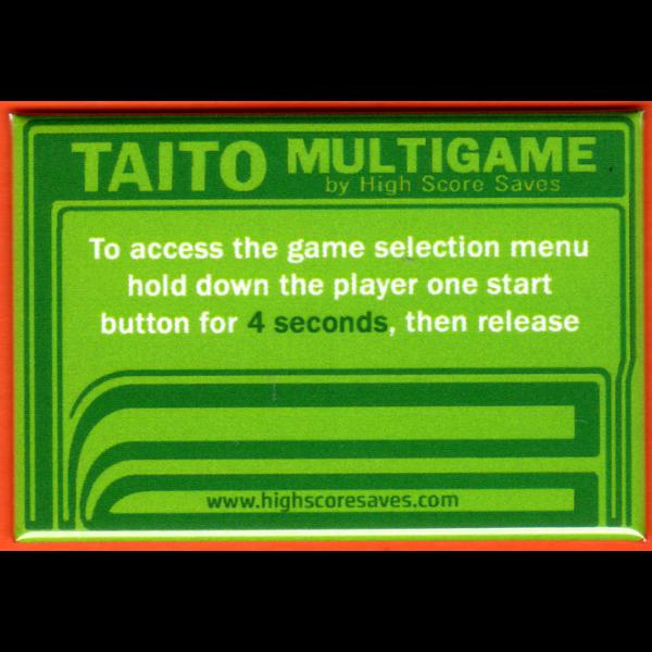 Multi Taito Multigame Instruction Magnet - Green