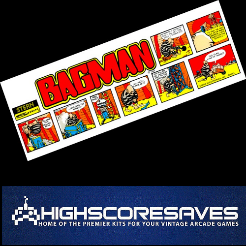 Online Bagman / Super Bagman Multigame Free Play and High Score Save Kit