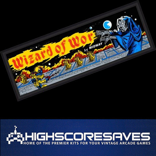 wizard of wor free play and high score save kit