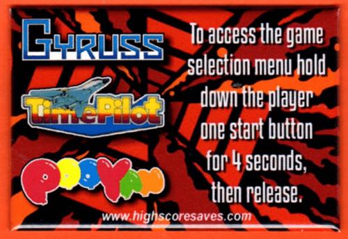 Gyruss Multigame Instruction Magnet