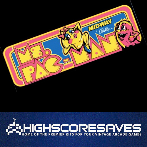 ms pacman free play and high score save kit