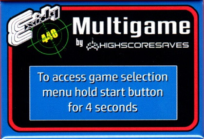 Exidy 440 Multigame Instruction Magnet