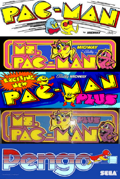 Pacman / Ms Pacman Multigame Free Play and High Score Save Kit