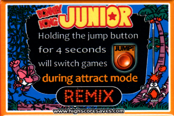Donkey Kong Jr Remix Instruction Magnet