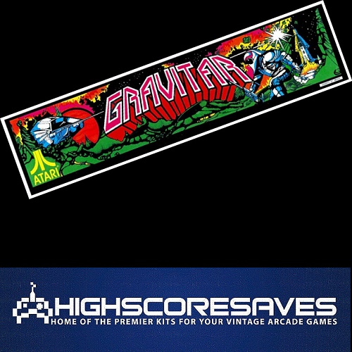Gravitar Free Play and High Score Save Kit