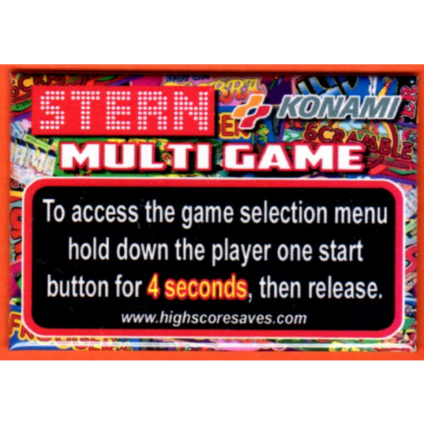 Scramble Multigame Instruction Magnet