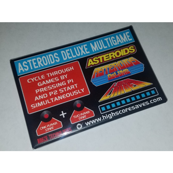 Asteroids Deluxe Multigame Instruction Magnet