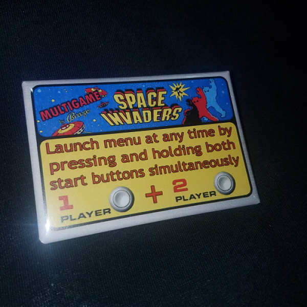 Space Invaders Multigame Instruction Magnet