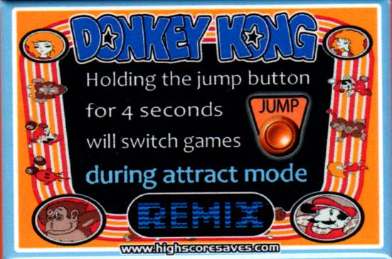 Donkey Kong Remix Instruction Magnet
