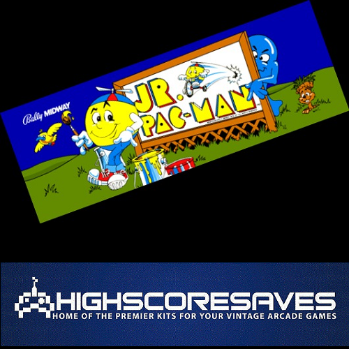 ONLINE Jr Pacman Free Play and High Score Save Kit