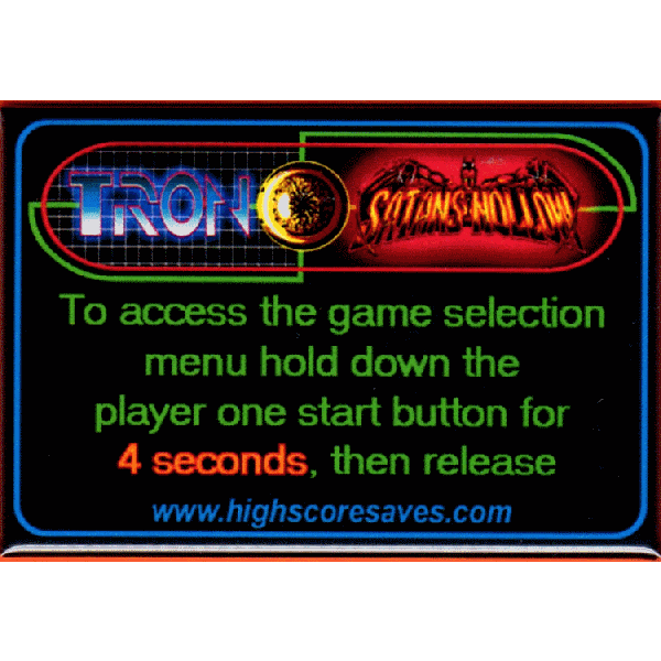 Tron Multigame Instruction Magnet