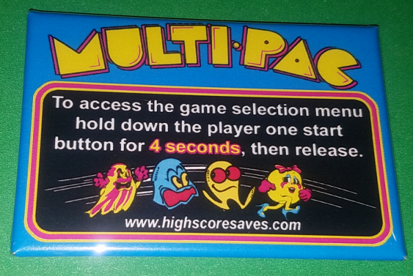 Ms Pacman Multigame Instruction Magnet