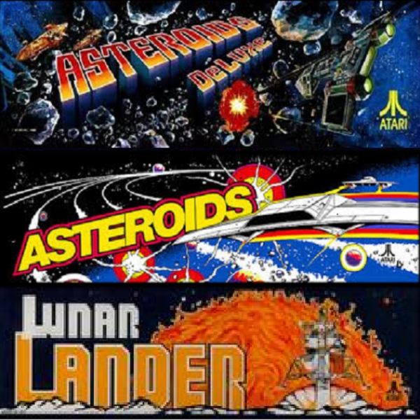 Asteroids Deluxe multigame free play and high score save kit