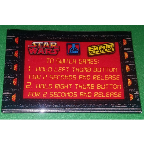 Star Wars Multigame Instruction Magnet