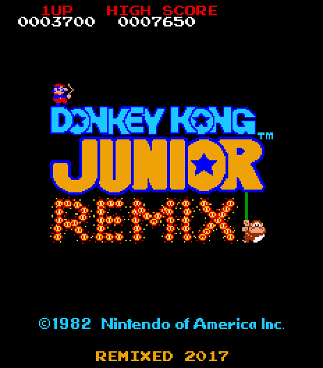 Donkey Kong Jr Remix Multigame High Score Save Kit with Trainer