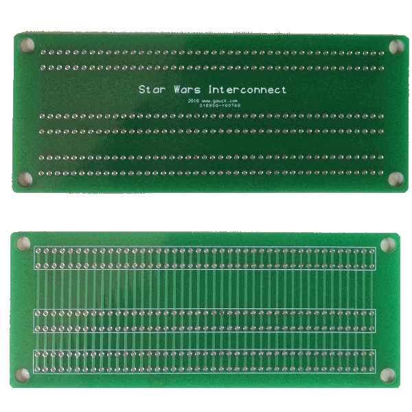 Star Wars and Empire Strikes Back Interconnect pcb (Blank Board Only)
